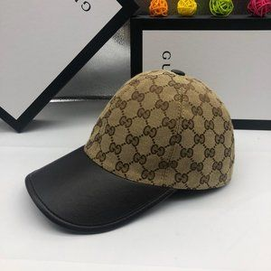Gucci Baseball Cap Hat Monogram Canvas